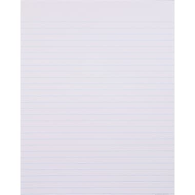 Staples, 8-1/2in. x 11in., White, Glue-Top Notepad, Wide Ruled, 12/Pack