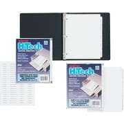 """Kleer-Fax 3 Hole Punched HiTech Custom Indexing System, 5-Tab, White, 8 1/2"""" x 11"""", 25/Bx"""