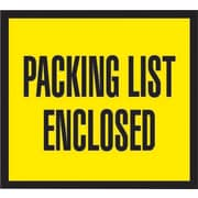 """Staples® Packing List Envelopes, 4-1/2"""" x 5-1/2"""", Yellow Full Face """"Packing List Enclosed"""", 1000/Case"""