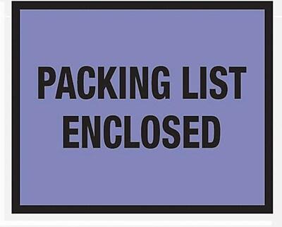 Packing List Envelopes 7