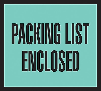 Packing List Envelopes, 4-1/2
