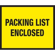 """Staples® Packing List Envelopes, 7"""" x 5-1/2"""", Yellow Full Face """"Packing List Enclosed"""", 1000/Case"""