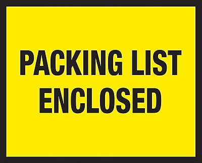 Packing List Envelopes, 7