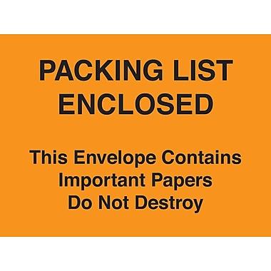 Packing List Envelopes 4-1/2
