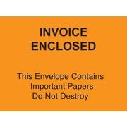 "Staples® Packing List Envelopes, 4-1/2"" x 6"" Orange Full Face ""Invoice Enclosed-Do Not Destroy"", 1000/Case"
