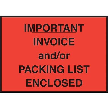 Packing List Envelope, 4-1/2