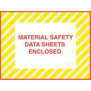 "Staples® Packing List Envelopes, 4-1/2"" x 6"", Yellow Striped Full Face ""M.S.D.S. Enclosed"", 1000/Case"