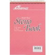 "Ampad Evidence Steno Book, 6"" x 9"", Gregg Ruled, Rose 80 Sheets/Pad (25289)"