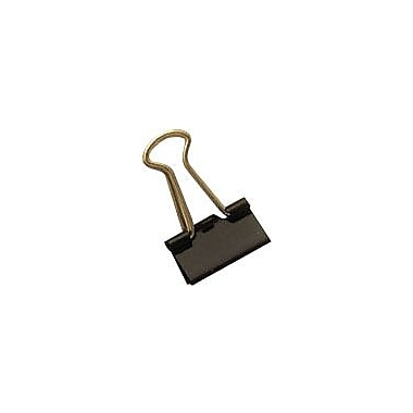 Staples® Mini Metal Binder Clips, Black, 3/5