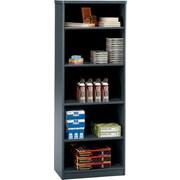 Bush Business Cubix 26W 5 Shelf Bookcase, Slate/White Spectrum, Installed