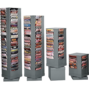 Durham Con-Tur® Rotary Literature Racks, 92 Pocket, Gray