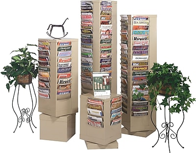 Durham Con-Tur® Rotary Literature Racks, 92 Pocket, Putty