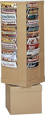 Durham Con-Tur® Rotary Literature Racks, 44 Pocket, Tan
