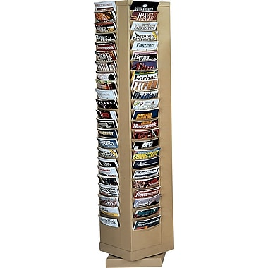 Durham Con-Tur® Rotary Literature Racks, 80 Pocket, Tan