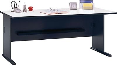 Bush Business Furniture Cubix 72W Desk, Slate/White Spectrum (WC84872)