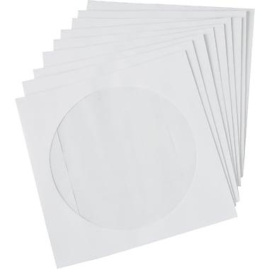 Staples CD/DVD Envelopes, White, 50/Pack (12257)