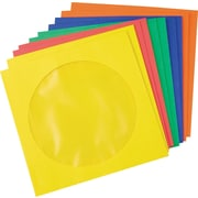 Staples® Paper CD/DVD Sleeves, Assorted Colors, 50/pack