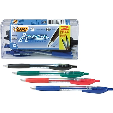 BIC® - Stylos à bille Atlantis, pointe rétractable