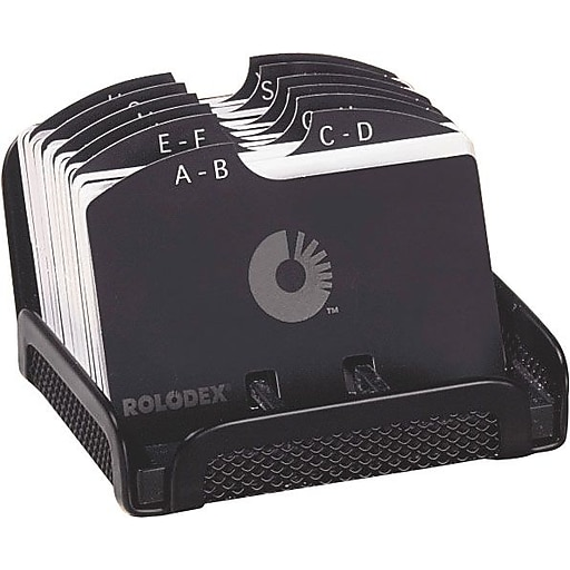 Rolodex designer open card file black mesh 2 14 x 4 staples httpsstaples 3ps7is colourmoves