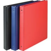 Staples® Simply Round Ring Binders, 1""