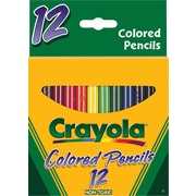 Crayola® Short Barrel Colored Pencils, Assorted Colors, 12/Box