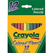 Crayola® Short Barrel Colored Pencils, Assorted Colors, 12/Box
