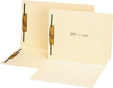 Pendaflex® Manila Laminated End-Tab Fastener Folders, Straight Tab, Letter Size, 2 Fasteners, Manila, 50/Box (13160)