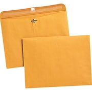 "Quality Park™ 9"" x 12"" Redi-File™ Brown Kraft Clasp Envelope, 100/Box"
