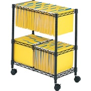 Safco® 2-Tier Mobile File Cart, Black
