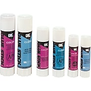 OIC Large Colored Glue Stick, Purple Paste, 1.30 oz.