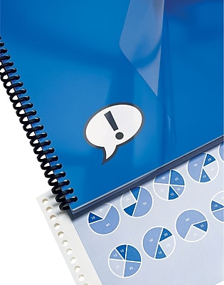 GBC® IMPACT™ Design View Frost Binding Cover, 25/Pack, 8-1/2