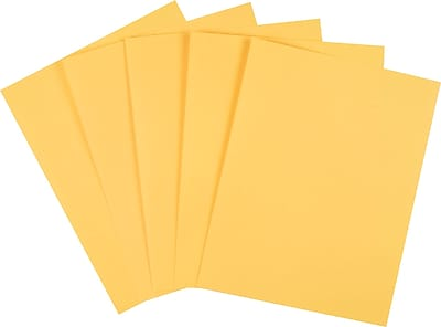 """staples® pastel colored copy paper, 8 1/2"""" x 11"""", goldenrod, ream"""