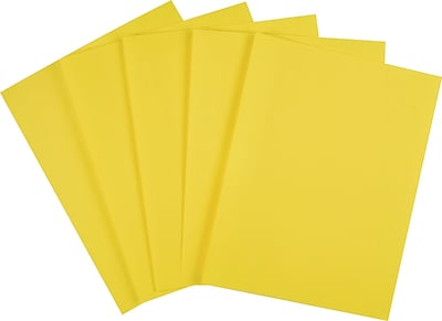 Staples Brights 24 lb. Colored Paper Yellow 500/Ream (20102)