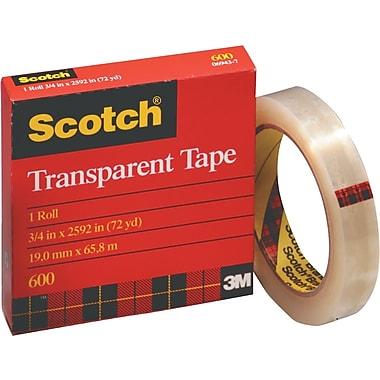 Scotch® 600 Transparent Tape Refill Rolls, 72 Yard Rolls
