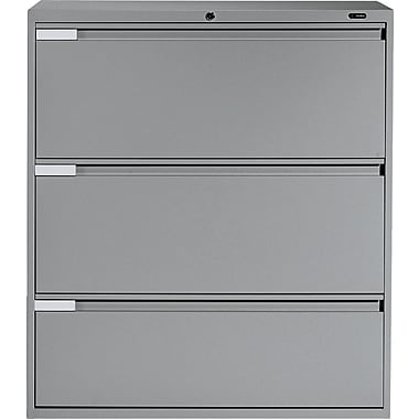 Global® 9100 Plus Series Lateral File Cabinet, 3-Drawer, Grey