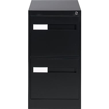 Global® 2800 Series Premium Vertical Letter File Cabinet, 2-Drawer, Black