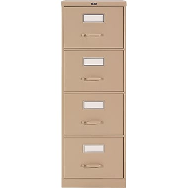 Staples® Vertical Legal File Cabinet, 4-Drawer, Sand