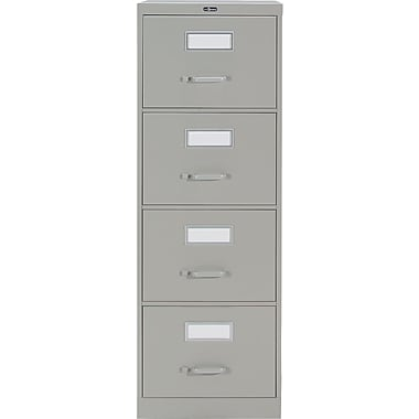 Staples® Vertical Legal File Cabinet, 4-Drawer, Grey