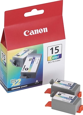 Canon® 15 (BCI15CLR) Color Inkjet Cartridges Multi-pack (2 cart per pack)