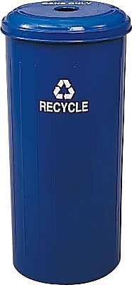 Safco® 20-Gallon Tall Round Recycling Receptacle For Cans
