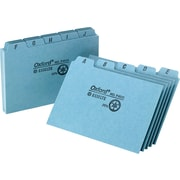 "Oxford® 4"" x 6"" Alphabetical Pressboard Indexed Tab Guide Sets"