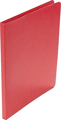 42529 ACCO Presstex Grip Punchless Binder with Spring-Action Clamp Red 0.625-Inch Capacity