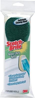 Scotch-Brite® Heavy-Duty Dishwand, Sponge Refills, 2/Pack