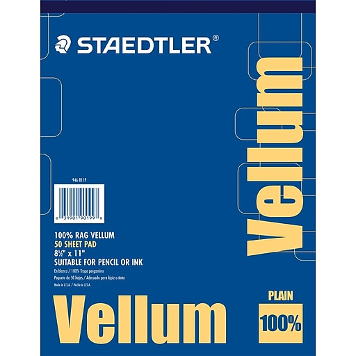 Staedtler 100 vellum tracing paper 8 12 x 11 staples httpsstaples 3ps7is malvernweather Image collections