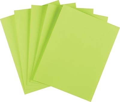 Staples Brights 24 lb. Colored Paper, Green, 500/Ream