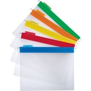 Staples® Clear Poly Hanging File Folders, Letter, Assorted Colors, 25/Box
