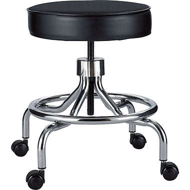 Safco® Screw Lift Height-Adjustable Low Base Faux Leather Lab Stools Black  sc 1 st  Staples : lab stools adjustable - islam-shia.org