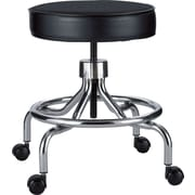 Safco® Screw Lift Height-Adjustable Low Base Faux Leather Lab Stools, Black