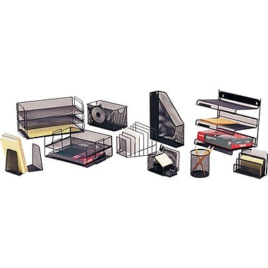 Staples® Black Wire Mesh Desk Collection