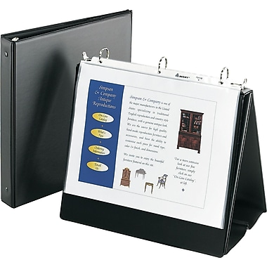 Easel binder avery easel binder with 1 round ring black 12880 malvernweather Choice Image